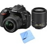 Nikon D5500 24.2MP DSLR 2 Lens Bundle $629 at BuyDig